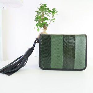 ALLSAINTS Bansho Genuine Snakeskin Shoulder Bag